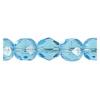 Fire Polished 7mm Transparent Aqua
